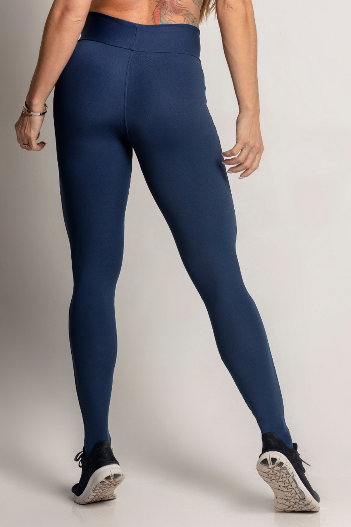 LEGGING DREAM FITNESS AZUL MARINHO COM TULE HIPKINI
