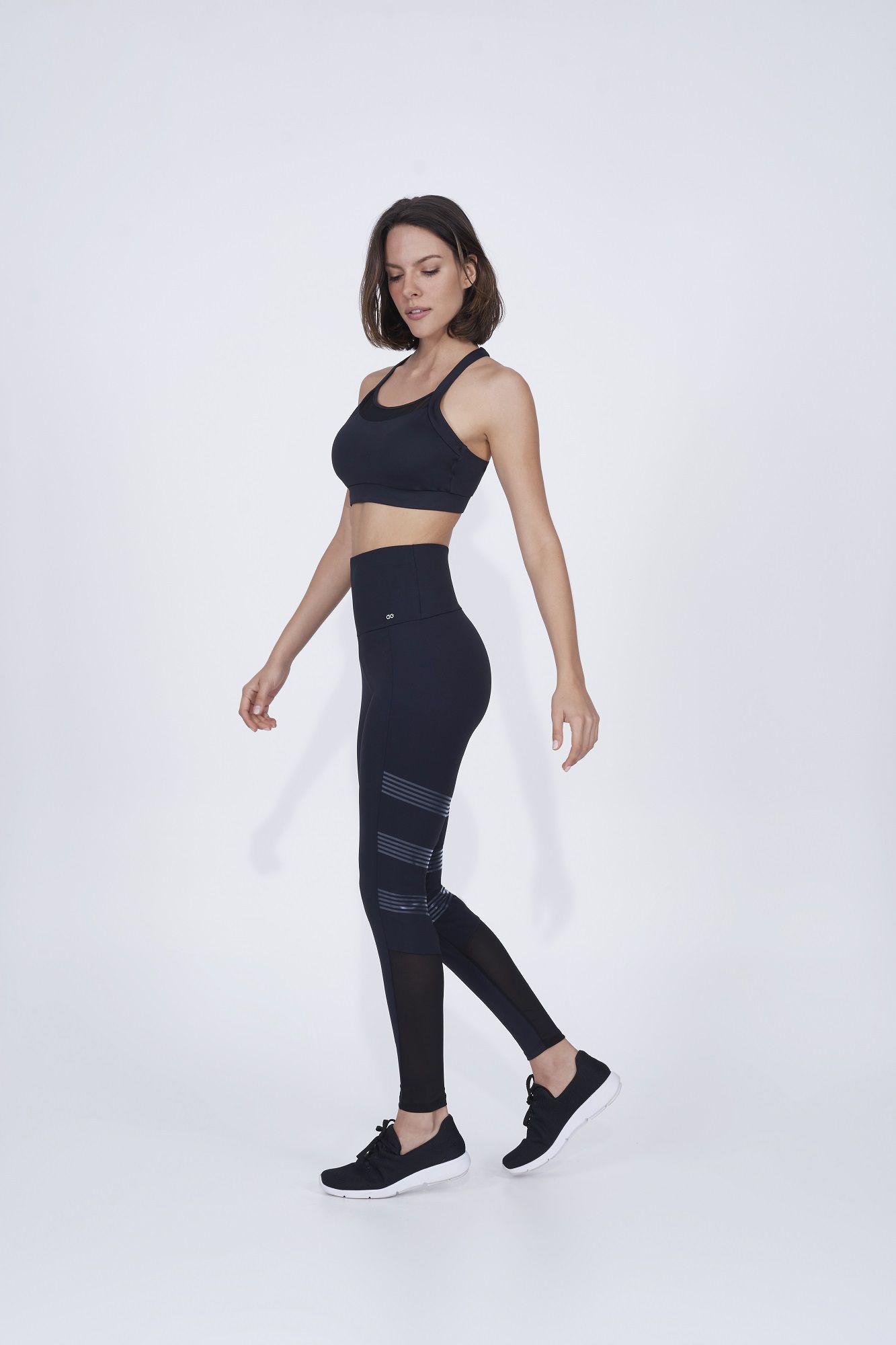 Legging Emana com Silk e Tule Alto Giro