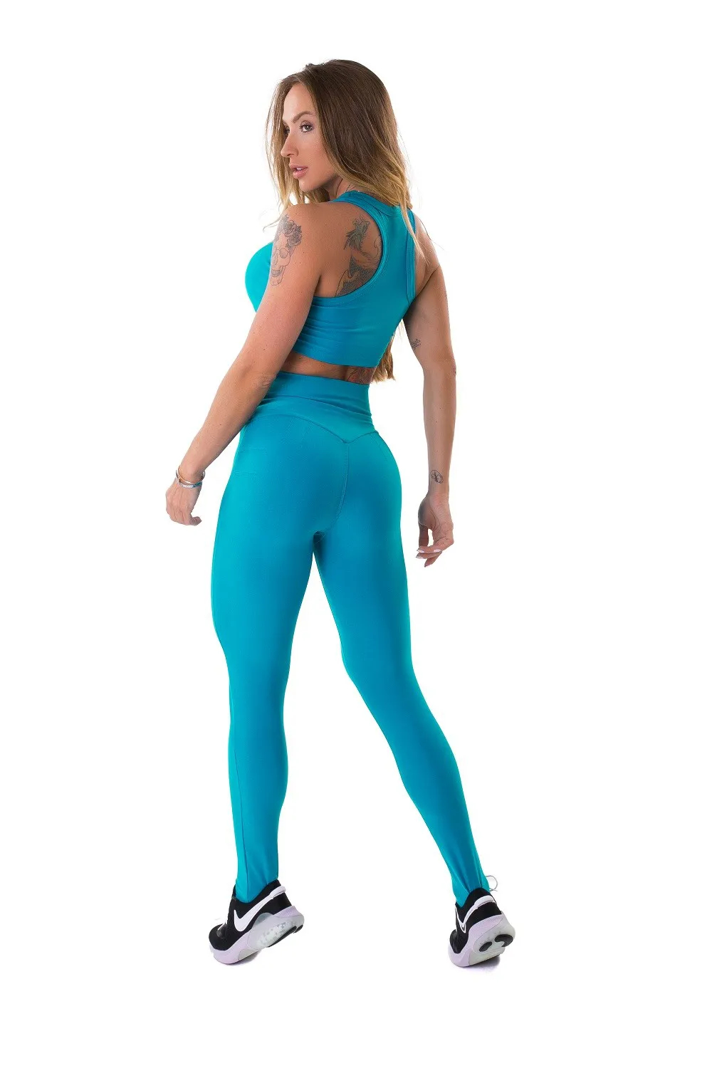 LEGGING ENERGETIC PUSH UP ACQUA LET'SGYM