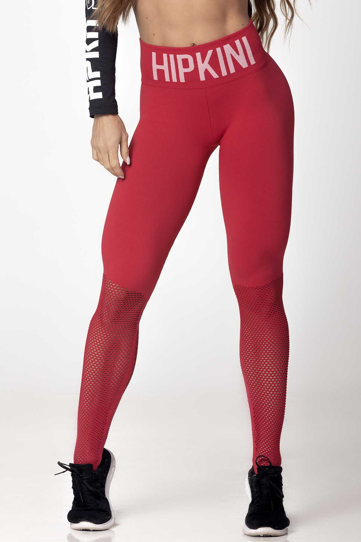 LEGGING LIGHT FITNESS SEAMLESS VERMELHA HIPKINI