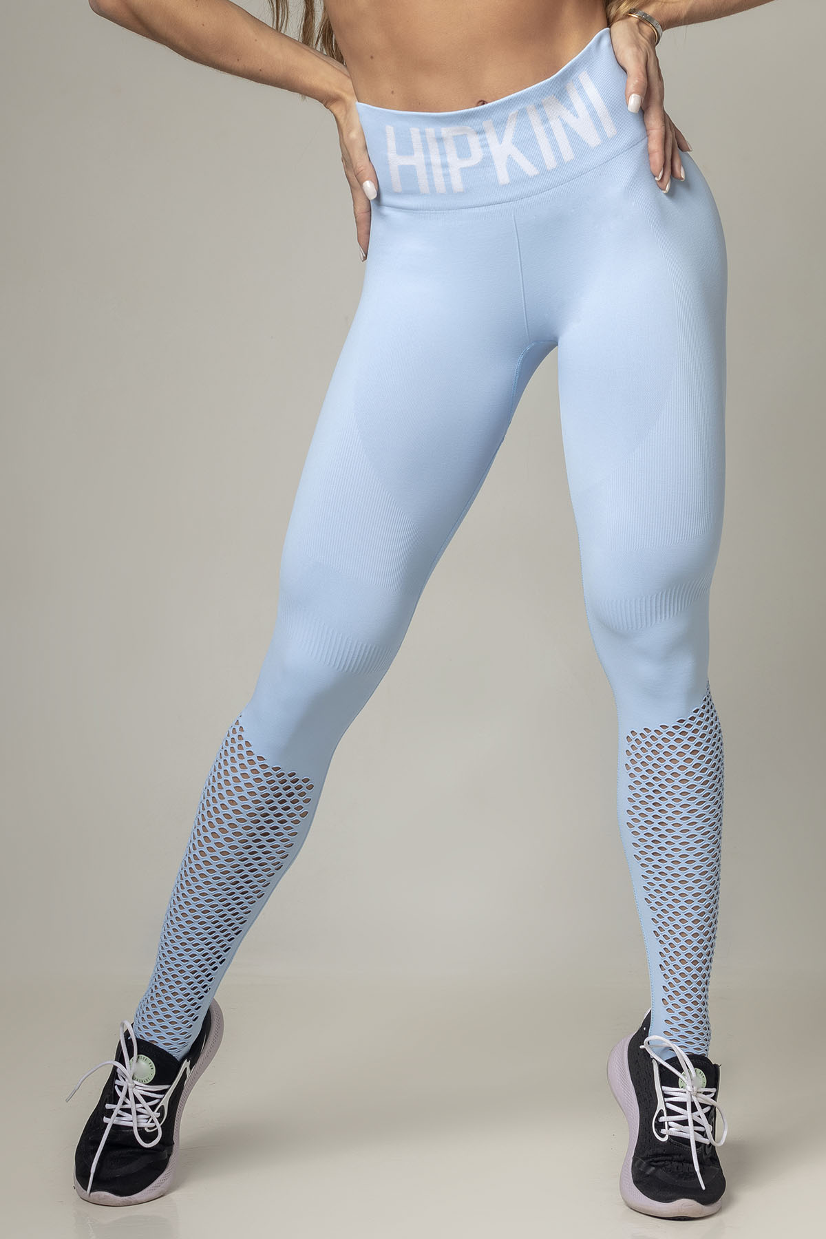 LEGGING PARTY FITNESS SEAMLESS AZUL CLARO HIPKINI