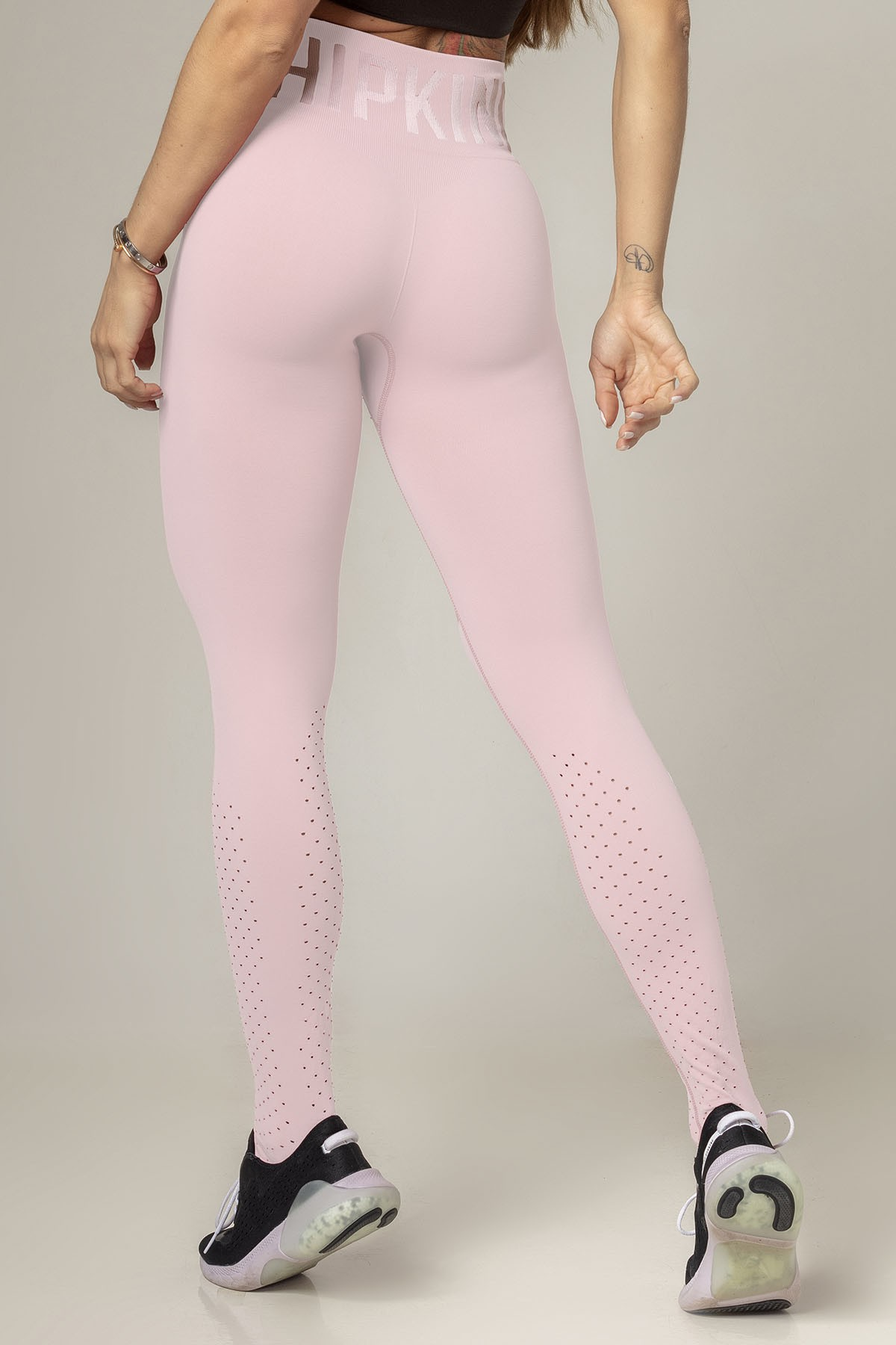 LEGGING PARTY FITNESS SEAMLESS ROSA CLARO HIPKINI