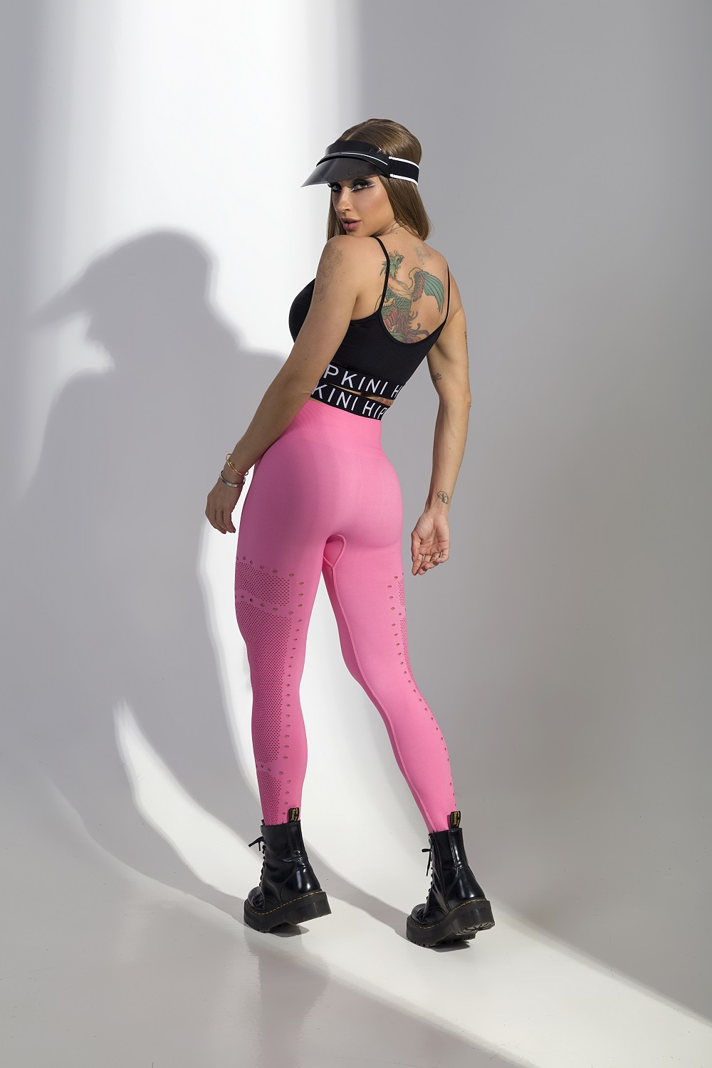 LEGGING RUN BABY FITNESS SEAMLESS ROSA HIPKINI