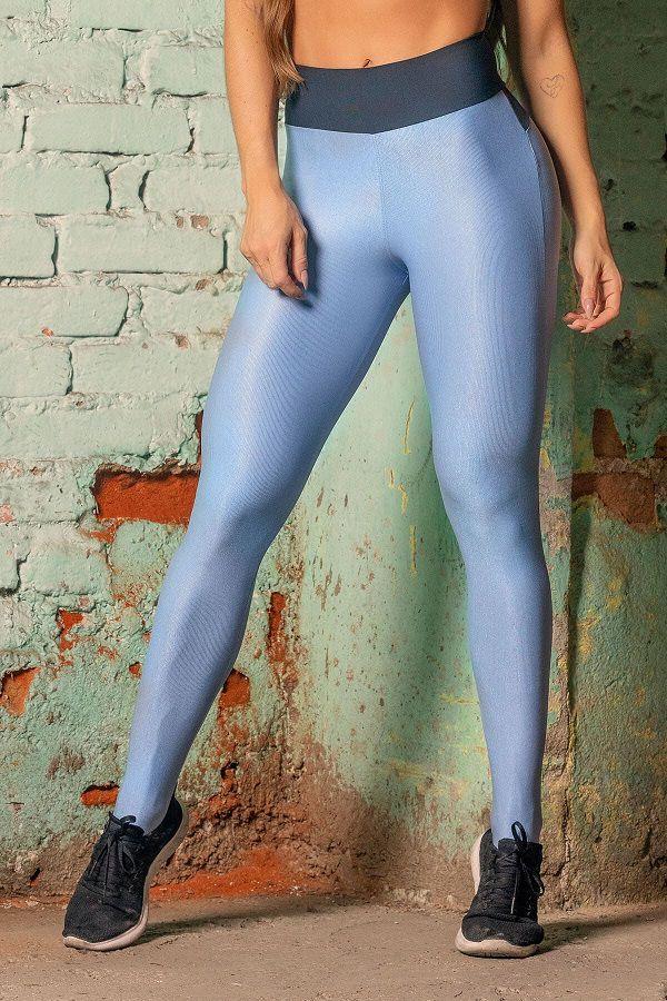 Legging Sw Fitness Azul com Bolso HIPKINI