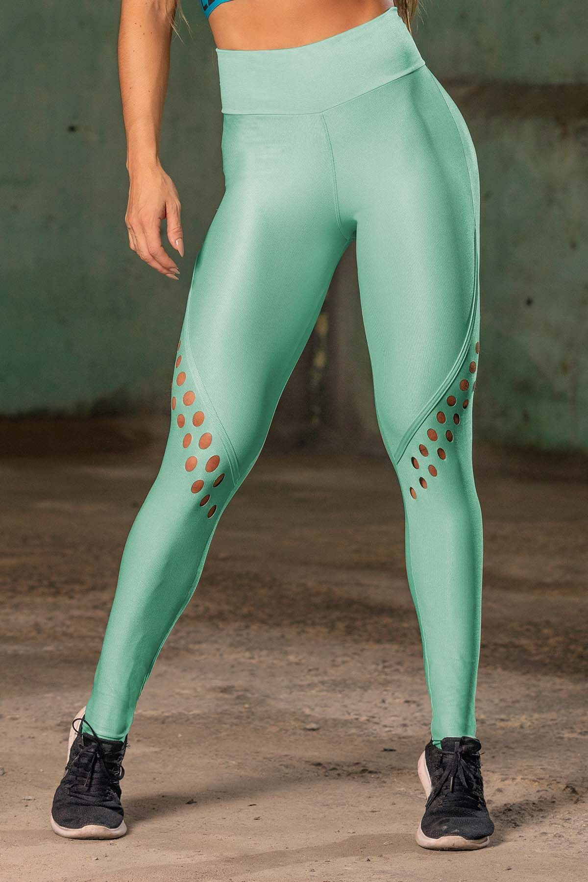 Legging Sw Fitness Verde com Viés