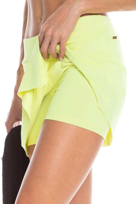 Saia com Short Sense Essential Verde Neon Live
