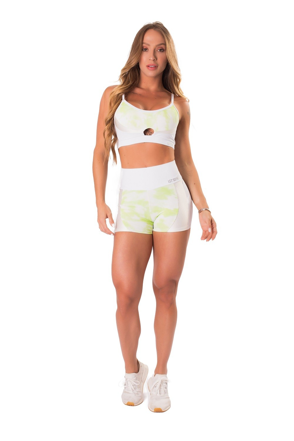SHORT MYSTIC FIT BRANCO LETSGYM