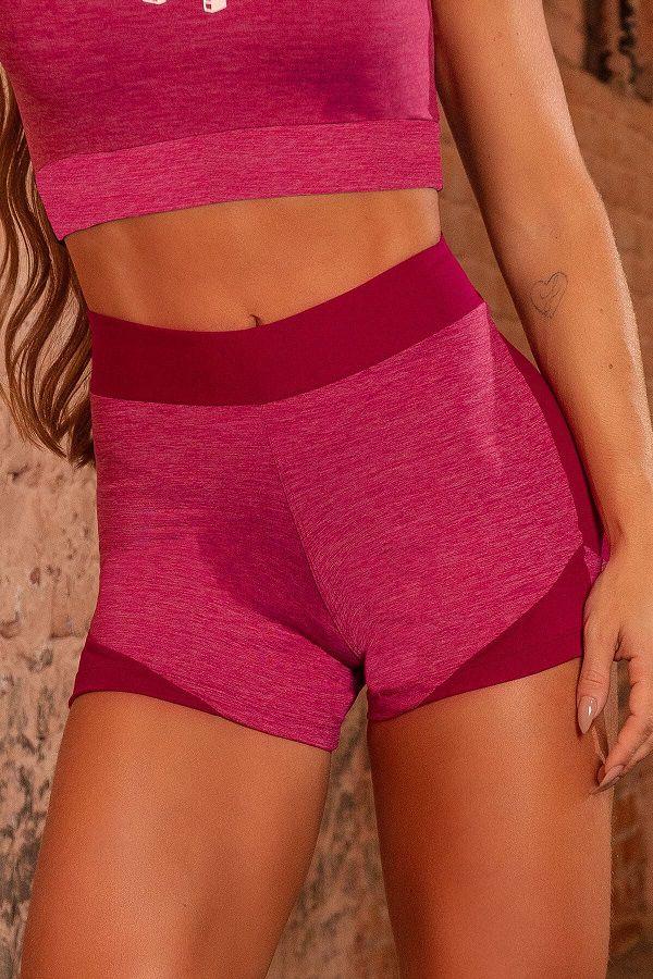Shorts Sw Fitness Mescla de Tom de Vinho HIPKINI