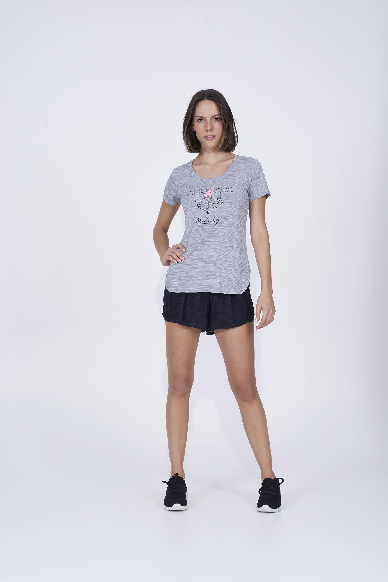 T-shirt skin fit inspiracional Alto Giro