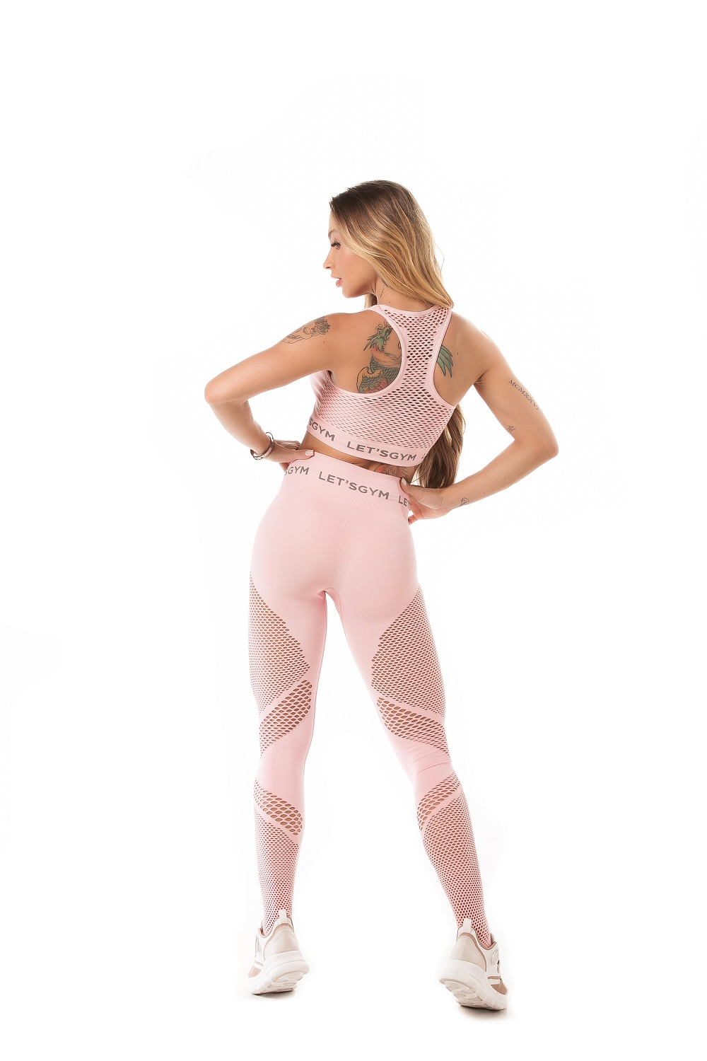 TOP SEAMLESS STYLISH SEM COSTURA ROSA LETSGYM