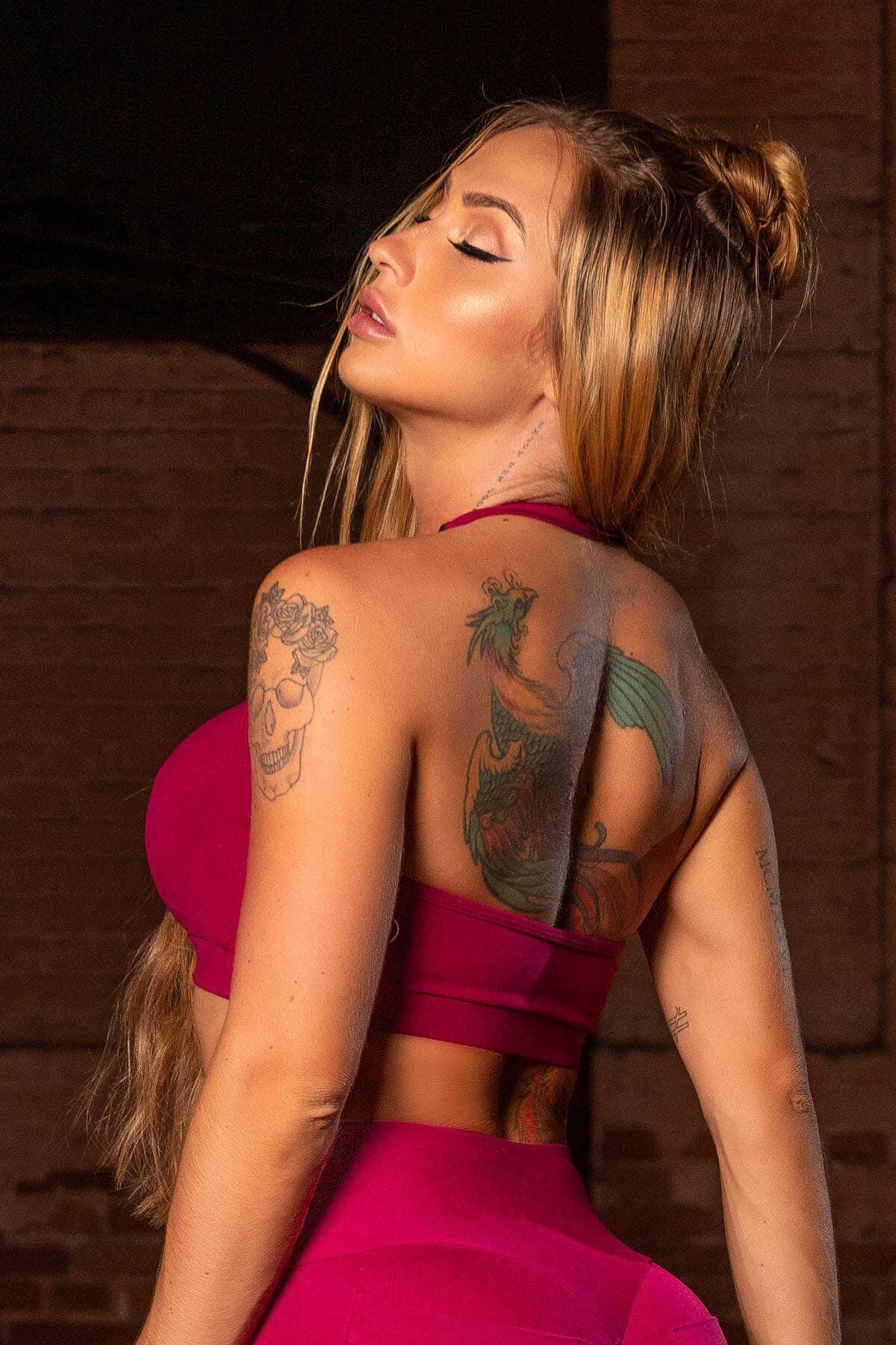 Top Sw Fitness Vinho com Recorte HIPKINI