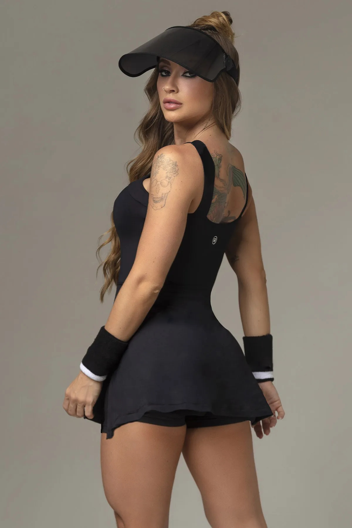 VESTIDO ACTION FITNESS PRETO HIPKINI