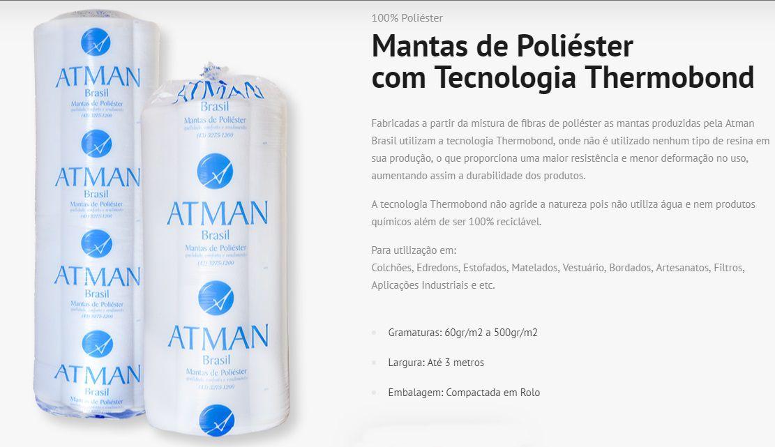 MANTA DE POLIESTER 0,100GR X 1,50M X 60