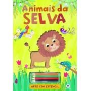 ARTE COM ESTENCIL - ANIMAIS DA SELVA