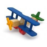 Avião de madeira bi plano