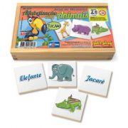 Jogo de Memória Alfabetização com animais c/ 40pç