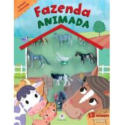 LIVRO COM CHOCALHO - FAZENDA ANIMADA