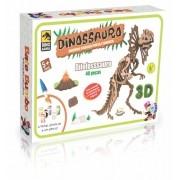 QUEBRA CABEÇA 3D DILOFOSSAURO 40 pçs PINTA E BRINCA