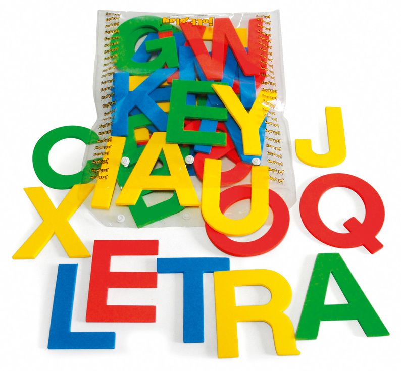 Alfabeto Móvel E.V.A. 36 letras , 10 cm de altura