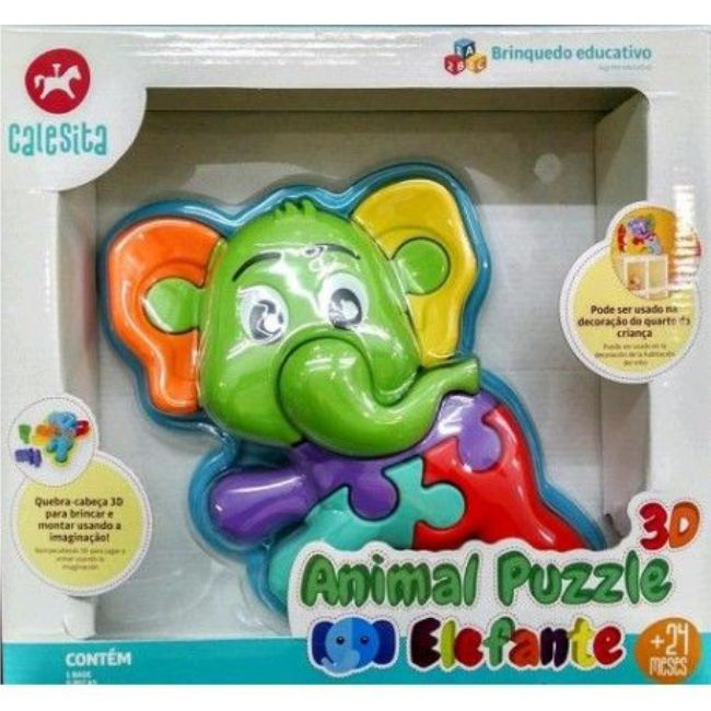 Animal Puzzle 3D Elefante