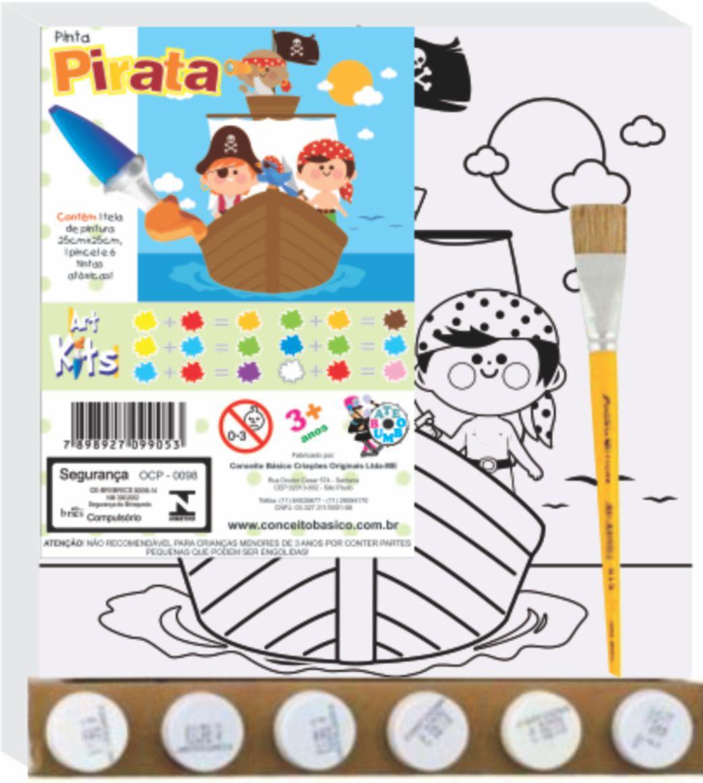ART KITS TELA PINTA PIRATA PEQ. 25X25CM