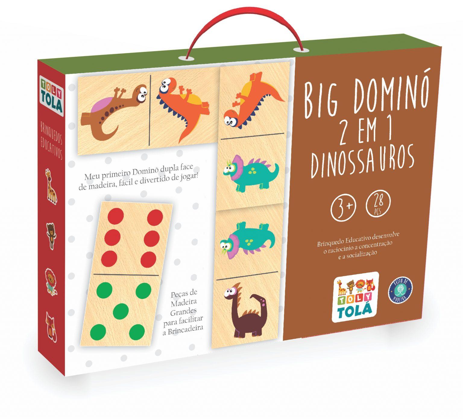 BIG DOMINÓ 2 EM 1 - TRADICIONAL / DINOSSAUROS