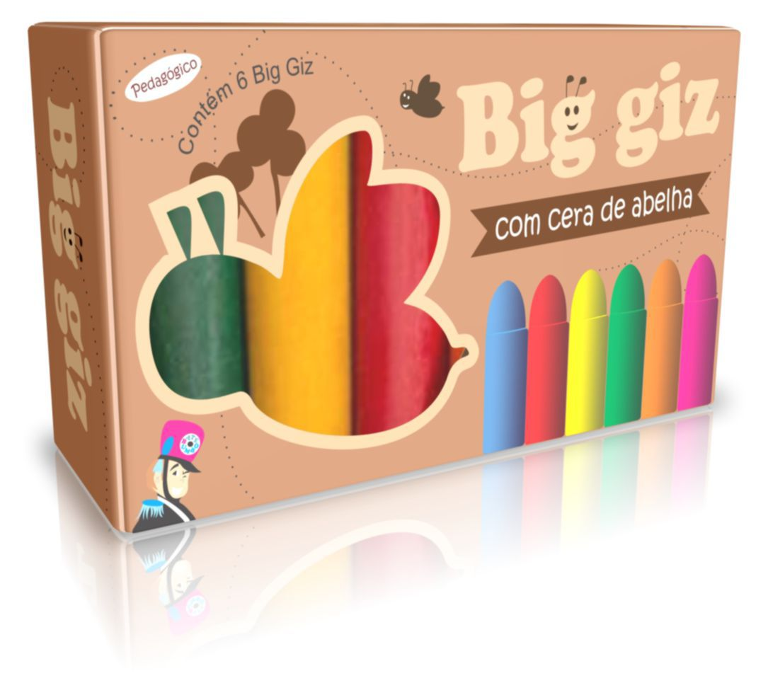 BIG GIZ DE CERA C/ 6 CORES