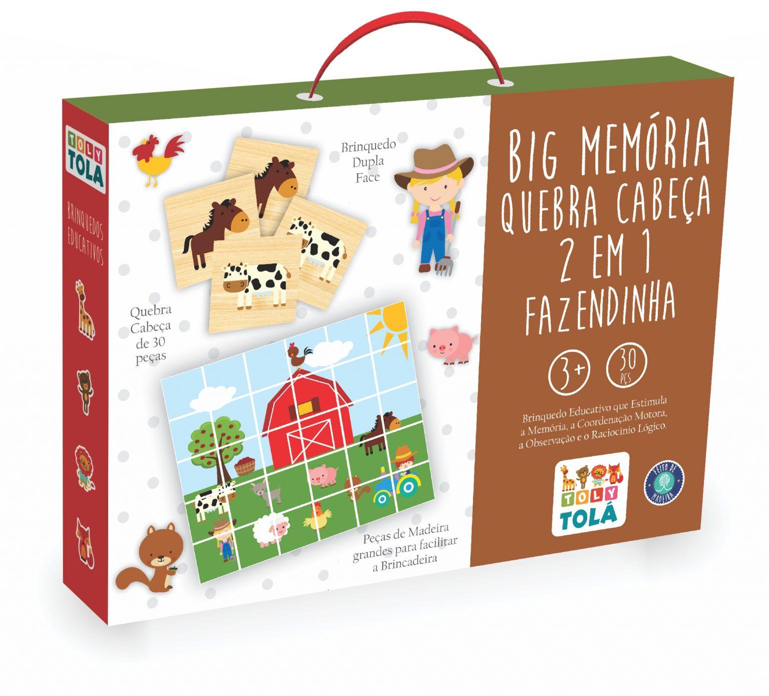 BIG MEMÓRIA / QUEBRA-CABEÇA 2 EM 1 - FAZENDINHA