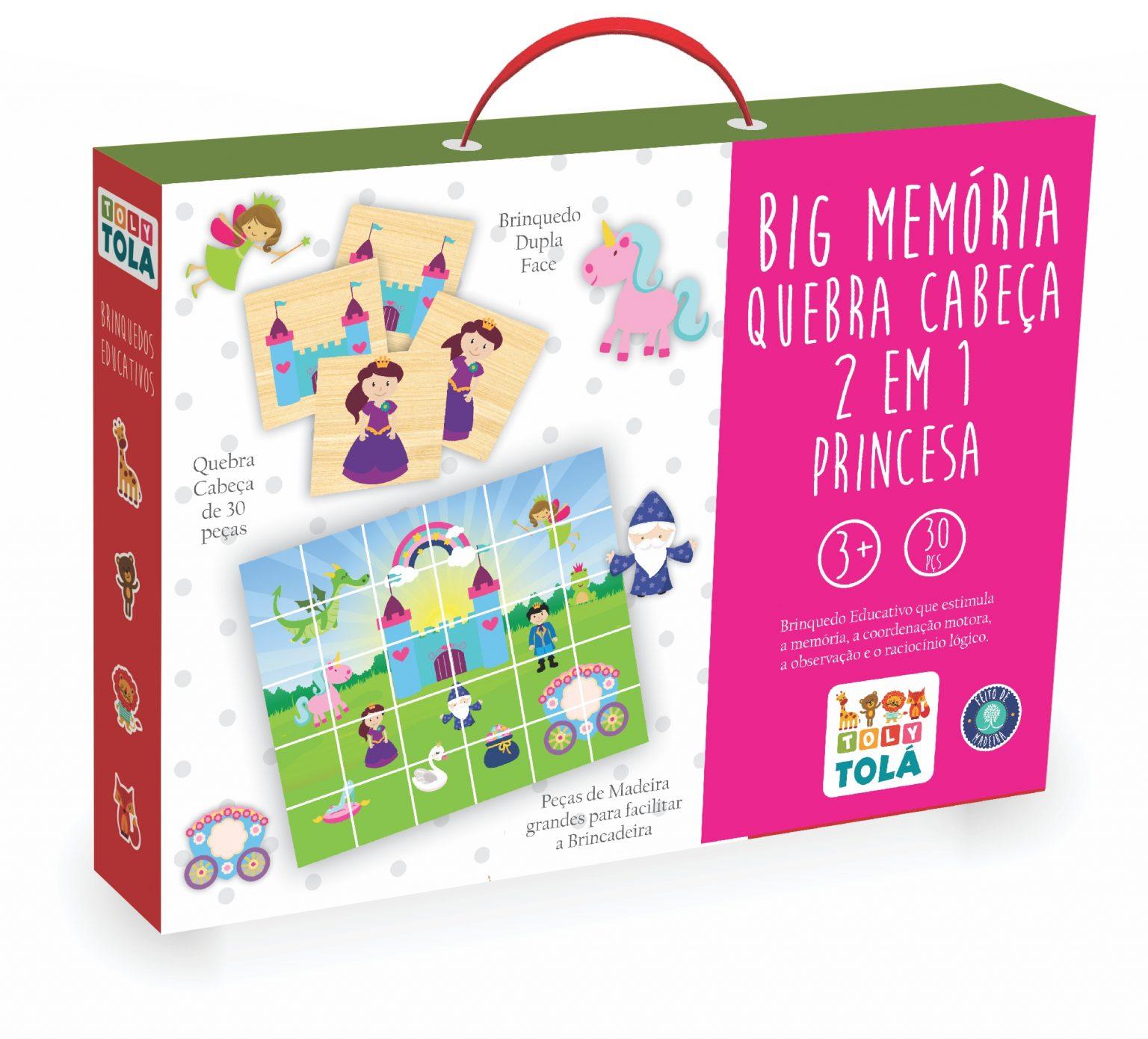 BIG MEMÓRIA / QUEBRA-CABEÇA 2 EM 1 - PRINCESA