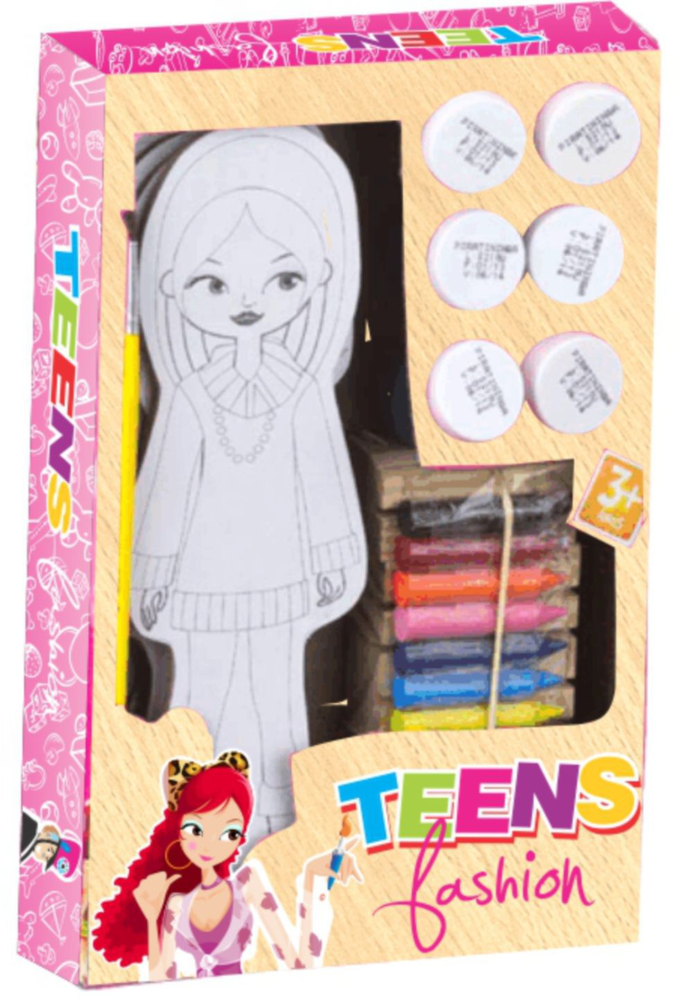 BONECAS P/ PINTAR TEENS FASHION