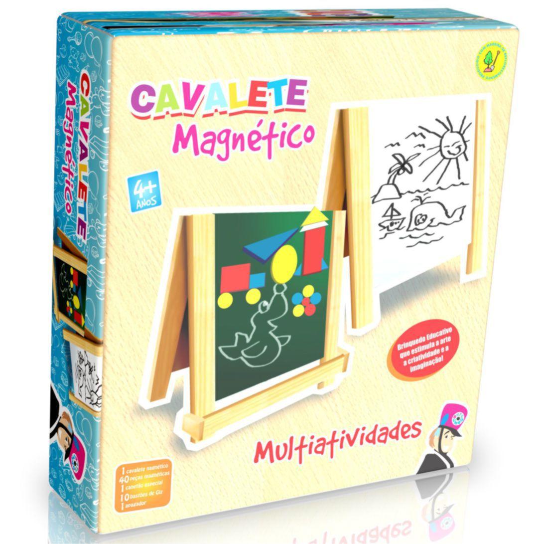 CAVALETE MAGNÉTICO MULTIATIVIDADES