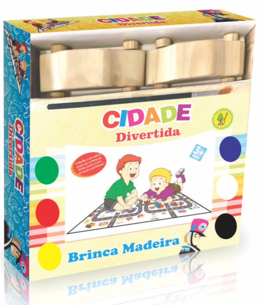 CIDADE DIVERTIDA CARRINHOS PINTA E BRINCA