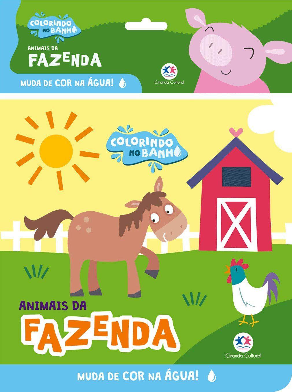 COLORINDO NO BANHO - ANIMAIS DA FAZENDA