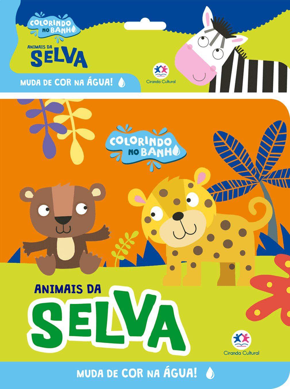 COLORINDO NO BANHO - ANIMAIS DA SELVA