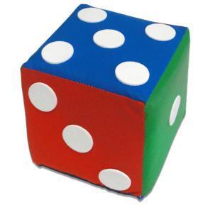 Cubo Dado com Pontos Redondos em Espuma Colorida 16x16x16cm
