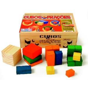 Cubos de Frações ( 93 pç ) cx de madeira