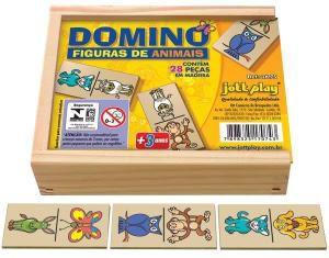 DOMINÓ DE ANIMAIS - 28 PEÇAS
