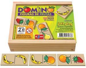 DOMINÓ DE FRUTAS - 28 PEÇAS