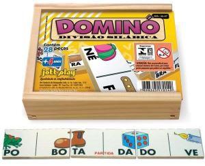 DOMINÓ DIVISÃO SILÁBICA - 28 PEÇAS