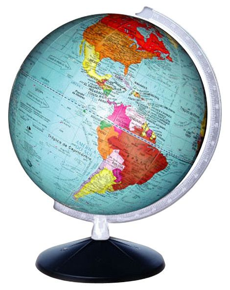 Globo Político Terrestre medindo 30 cm diâmetro