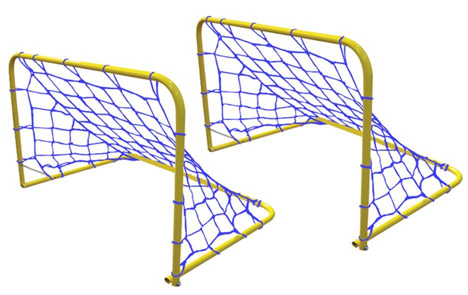 Goleira (par) para futebol júnior em tubo de aço