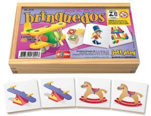 Jogo de Memória Brinquedos c/ 40pç cx madeira