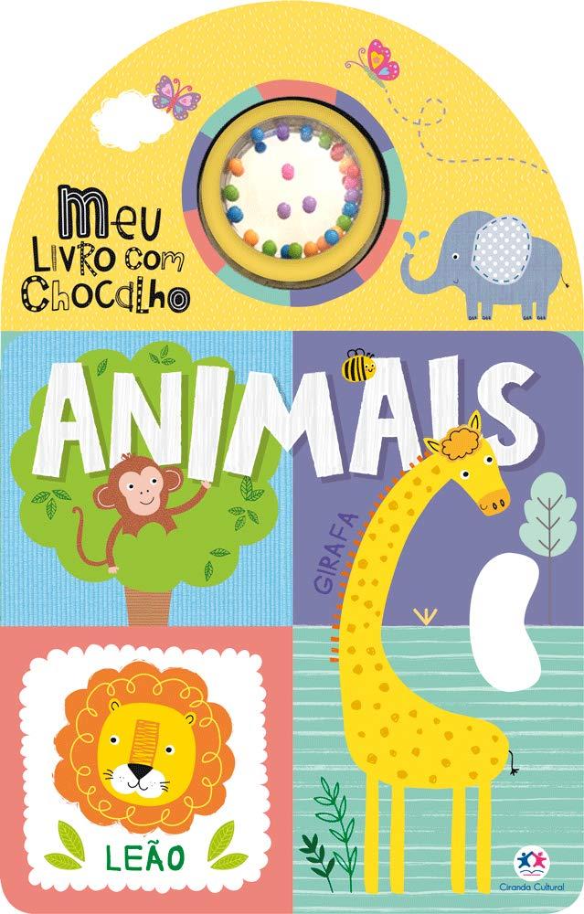 LIVRO COM CHOCALHO - ANIMAIS