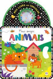 LIVRO COM CHOCALHO - MEUS AMIGOS ANIMAIS