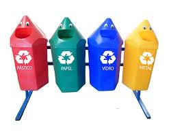Lixeira Seletiva Reciclável Lápis Feliz