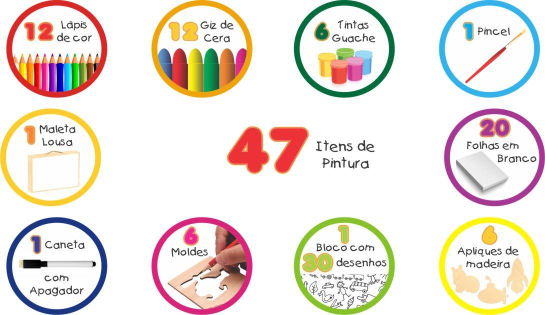 MALETA DO PEQUENO ARTISTA 47 PÇS