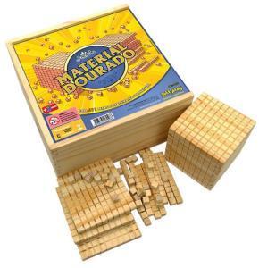 Material Dourado completo ( 611 pç ) cx de madeira