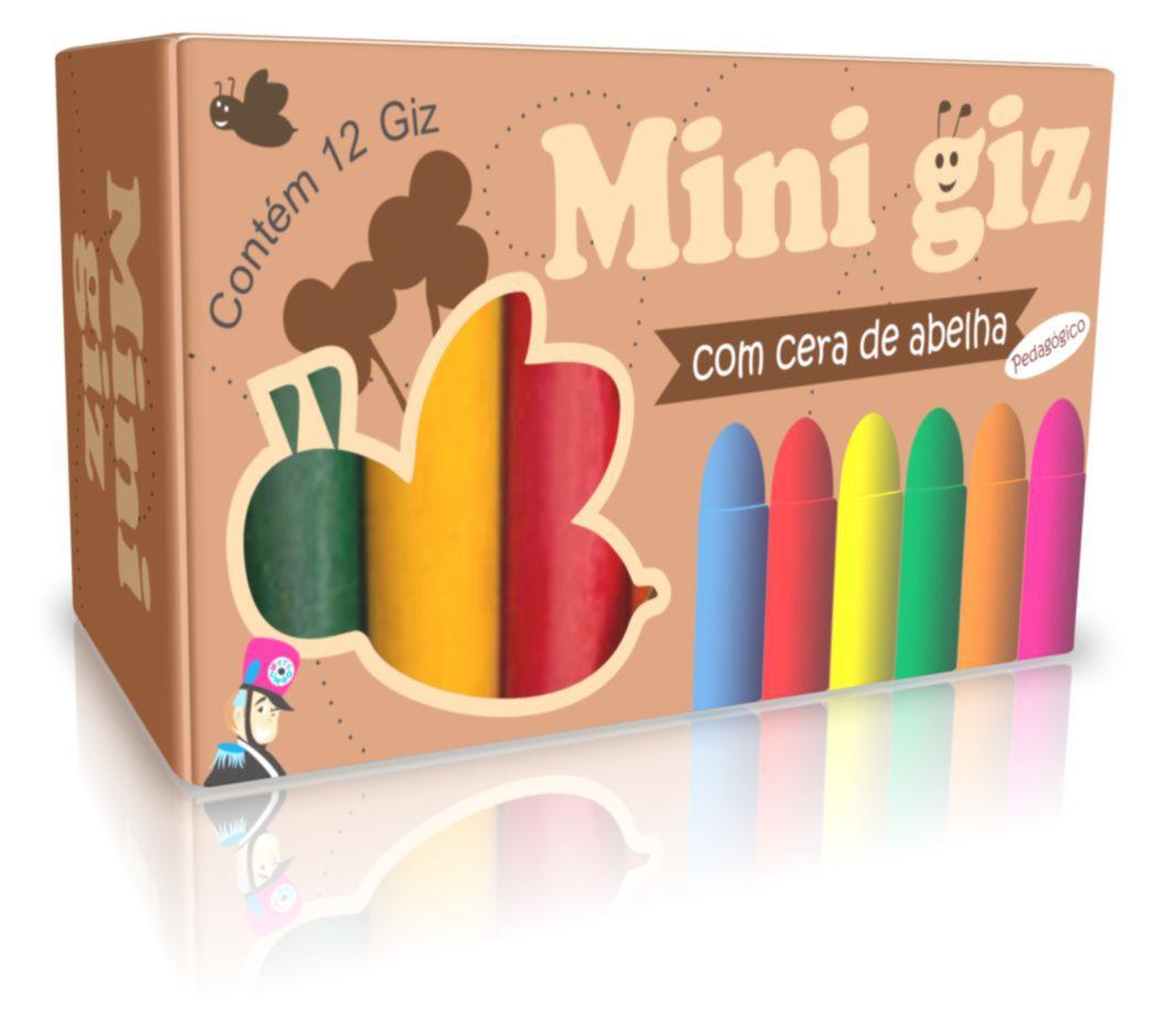MINI GIZ DE CERA C/ 12 CORES