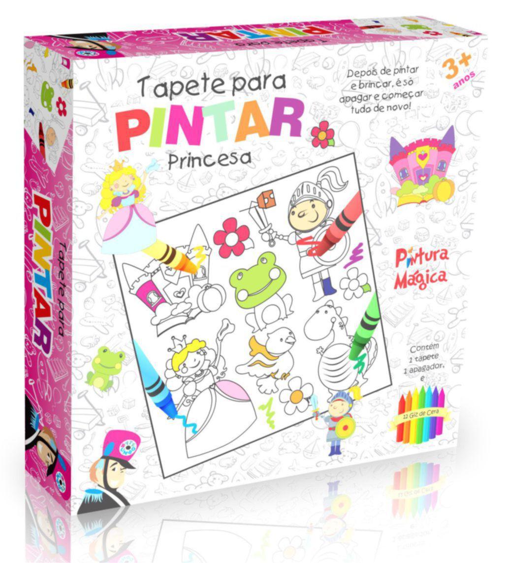 TAPETE PINTA E APAGA PINTAR PRINCESA