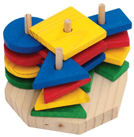 Torre de Formas Geométricas com 16 peças